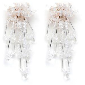 Crystal Clear beaded earrings